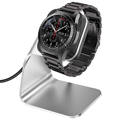 CAVN Caricabatterie per Samsung Galaxy Watch 46mm / 42mm / Samsung Gear S3 Caricabatterie a induzione, (150 cm / 4,9 ft) Alluminio USB Cavo di Ricarica per Samsung Glaxay Watch/Gear S3 (Argento)