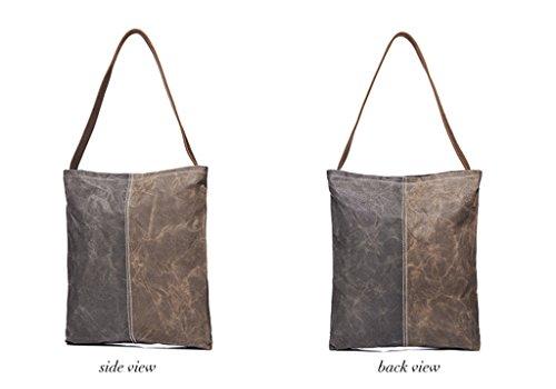 Sucastle Retro Tasche lässig Tasche Schultertasche Messenger Bag Tragetasche Sucastle Farbe: Junjia Farbe Größe: 35x30x4cm