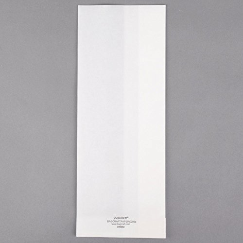 TableTop King Bagcraft Papercon 300092 4 1/4'' x 2 3/4'' x 11 3/4'' Dubl View ToGo! White Extra-Large Window Sandwich / Bakery Bag - 500/Case by TableTop King (Image #2)