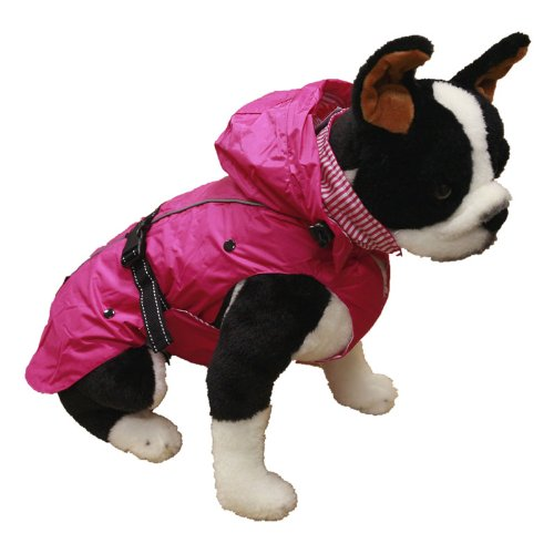 One for Pets 1305-Pink-20  All-Season Dog Coat with Removable Fleece Lining, 20-Inch Back Length, Pink