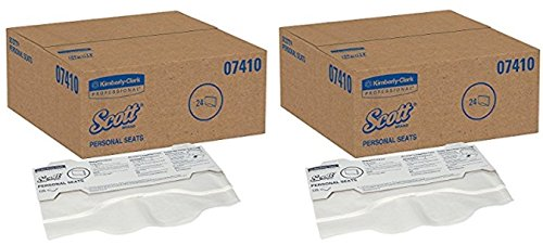 Scott Toilet Seat Cover (07410), White, Disposable, 2 Cases (125 Covers / Pack, 24 Packs / Case)