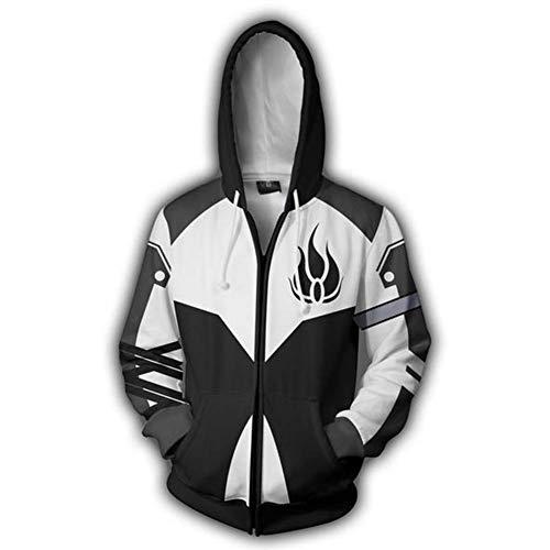 Skycos Anime Rxby Cosplay Hoodie Unisex 3D Printed Zipper Hoodie Jacket Coat Sweatshirt (L, Color ()