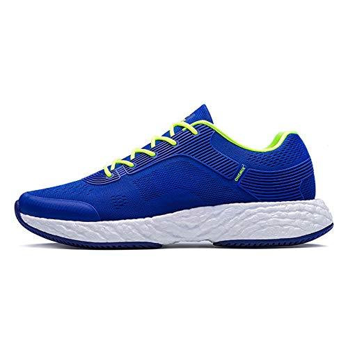 [MonShop] スポーツシューズ男性エネルギーランニングシューズ男性ハイテクスニーカーエネルギードロップマラソンランニングスーパーライトリバウンドアウトソールスニーカー B07PDQSVTP Dark blue 7 7|Dark blue