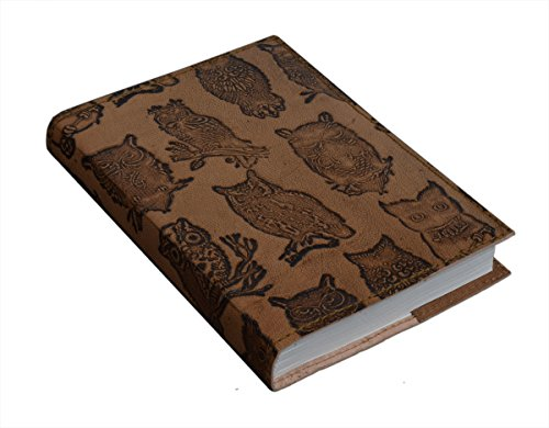 Leather Journal Travel Diary Owl Designed Personal Organizer Planner Notebook with Eco-friendly Handmade 96 Pages Office Paper Supplies - 8 X 6 Inches (Brown) (Mother Daughter Notebook)