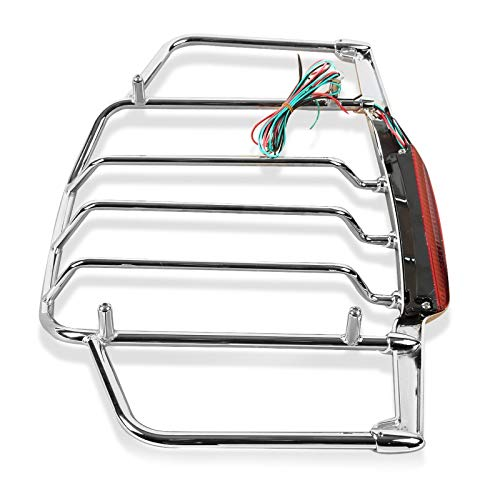 Gep/äcktr/äger mit LED f/ür Harley Electra Glide Standard 96-10 Chrom