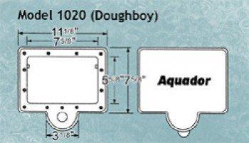 (Aquador Doughboy Above Ground Pool Skimmer Cover - 1020)