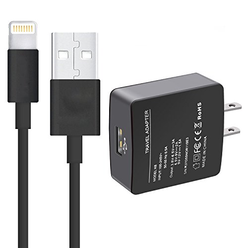 Cheap Lightning Cables Quick Charge 3.0 Wall Charger, Rerii 18W Full-Speed USB Charger for iPhone,..