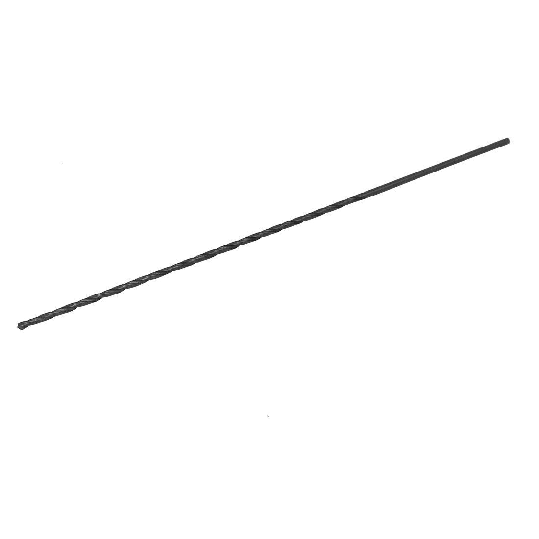 uxcell 2.5mmx160mm HSS Double Flutes Straight Shank Twist Drill Bit Drilling Tool Black