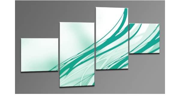 Arte Moderno como Lienzo 4 imágenes Número de Referencia m42450 Multicoloured cian Modern Art enmarcado sobre auténtico bastidor. Enmarcado como imagen sobre Marco. Menos Que Pintura al óleo Póster Cartel con marco