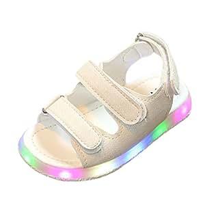 Zapatillas de Deporte de Verano para Niños Sandalias de Bebé para Niñas Zapatos Luminosos LED ¡