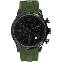 Versus by Versace Men's 'Naboo' Quartz Stainless Steel Fashion Watch, Color:Green (Model: VSPEC0418)