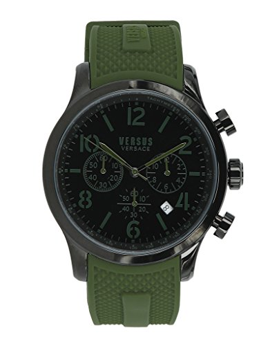 Versus by Versace Men's 'Naboo' Quartz Stainless Steel Fashion Watch, Color:Green (Model: VSPEC0418)