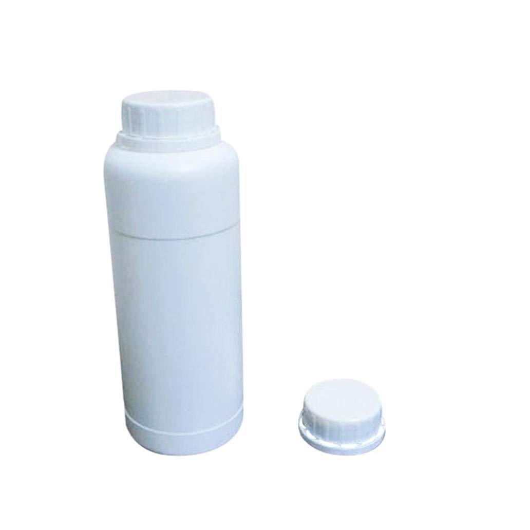 Blanc 500 ML r/écipient pour Voyage r/éactifs Chimiques Lot de 5 flacons vides en Plastique 500 ML pour m/édicaments