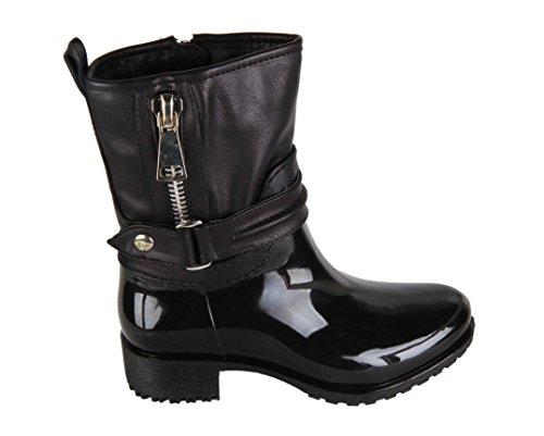 Bottines de pluie - fille - Noir