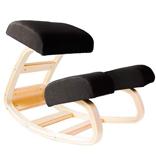 Sleekform Kneeling Chair | Rocking Ergonomic Wood Knee Stool for Office & Home | Posture Correcting...