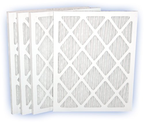 18x20x1 (17-3/8x19-1/2) DP Green 13 Pleated Panel Filter MERV 13 4-Pack