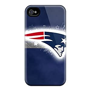 Awesome New England Patriots Flip Case With Fashion Design For Iphone 4/4s