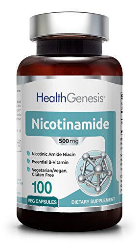 B-3 Nicotinamide 500 mg 100 Vegetarian Capsules – Natural Flush-Free Vitamin Vcaps Formula   Gluten-Free Nicotinic Amide Niacin   Supports Skin Health   UV Protection   Healthy Cell Repair Support Review