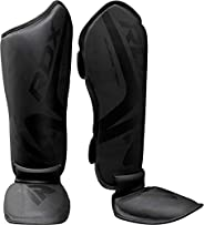 RDX Shin Guards for Muay Thai, Kickboxing, MMA Training and Fighting, Maya Hide Leather Instep Leg Protector F