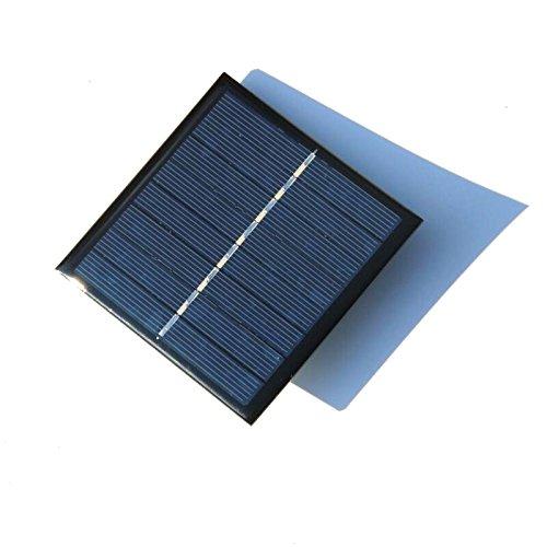 NUZAMAS AAA Batteria ricaricabile Caricabatterie da pannello solare Caricamento 2 batterie 4V 1W
