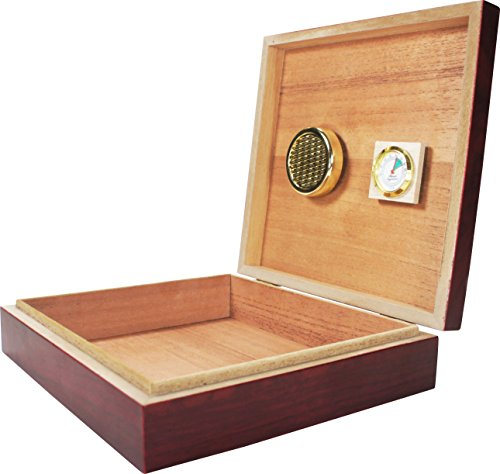 Humidor - Solid Wood with Spanish Cedar Interior for - Cigar Cedar Humidor