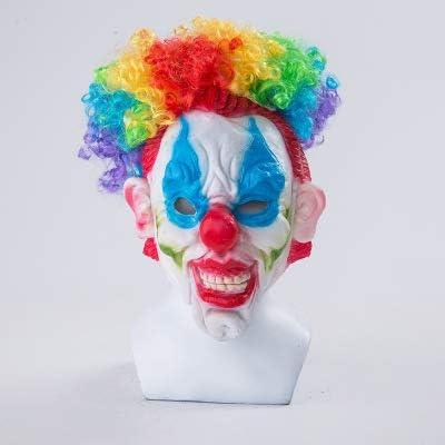 ZJSIM Halloween Diavolo Clown Maschera Horror Cosplay Costumi Male esplosivo parrucca, Clown maschera puntelli B: Amazon.es: Juguetes y juegos