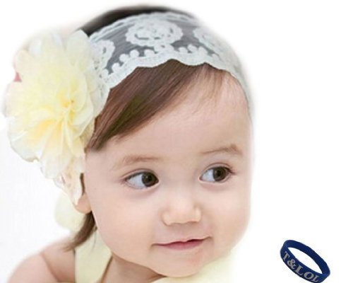 BONAMART ® Baby Girls Kids Toddler Princess Hair Bands Hairband Lace Accessories Flower Newborn - 8 Years Old S-L