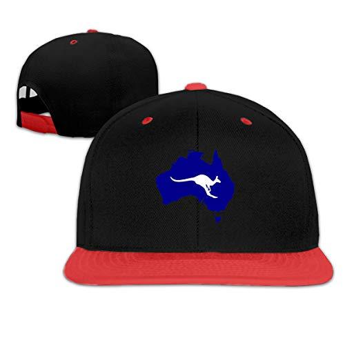 ZP-CCYF Australia Map and Kangaroo Silhouette Unisex Cool Baseball Cap Trucker Cap Flat Cap Adjustable Hip Hop -