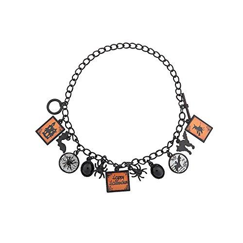 Fun Express - Spooky Spider Bracelet ck for Halloween - Craft Kits - Adult Jewelry Craft Kits - Adult Bracelet - Halloween - 2 Pieces -