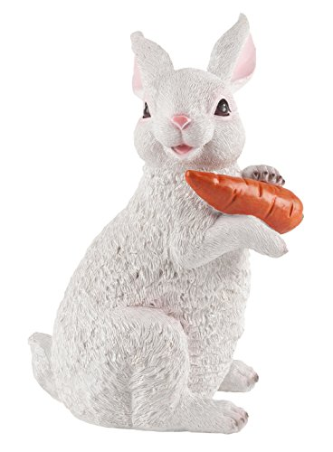 Resin Bunny with Carrot Statue