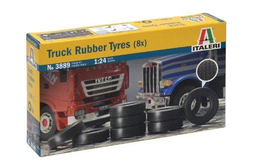 Italeri 510003889 - 1:24 LKW-Reifen, 8 Stück 8 Stück