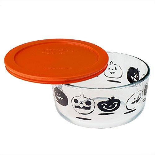 Pyrex Storage Plus 4 Cup Pumpkin Halloween Dish with Orange Lid Halloween Pumpkin Container