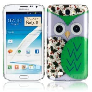 Plastic Protective Case with Big Owl Pattern for Samsung N7100 Purple