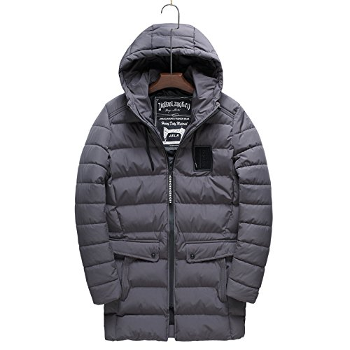 thick winter XXXL the fashion warm style casual clothes In men for HHY gray long fR0ax