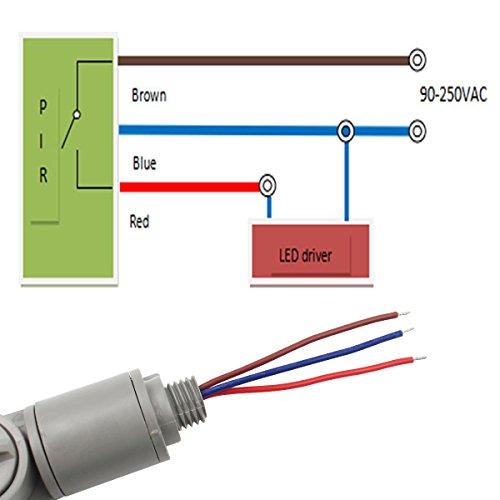 E-Greetshopping Sensor Detector de Movimiento Infrarrojos Luz Montaje Pared Al Aire Libre RF Gris: Amazon.es: Electrónica