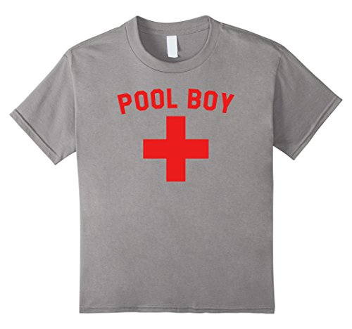 Cabana Boy Halloween Costume (unisex-child Pool Boy T-Shirt Lifeguard Cabana Boy Costume Tee 6 Slate)