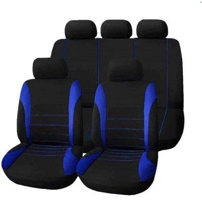 9 ensembles Housses pour sièges de voiture auto, Couvre Siège voiture (Bleu)