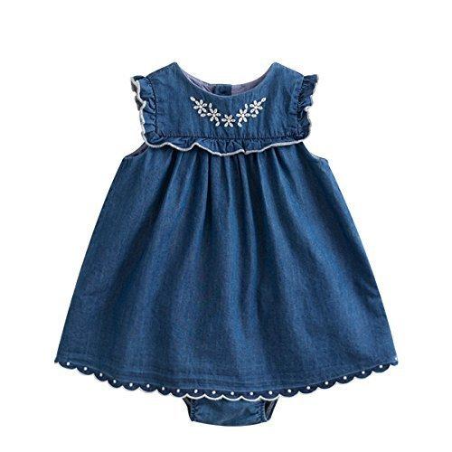 marc janie DRESS DRESS ベビーガールズ Months 12 Months デニムブルー 12 B075YNDZHY, イースマイル333:a814072c --- sharoshka.org