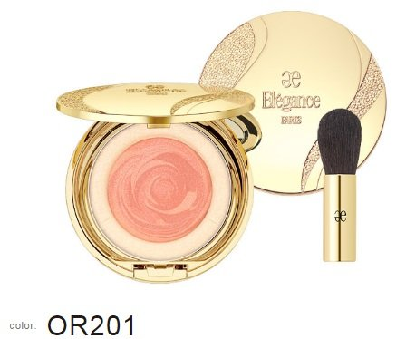 Albion Japan, Elegance Bliss Aura OR201, Face Color with case & brush, New by Elégance