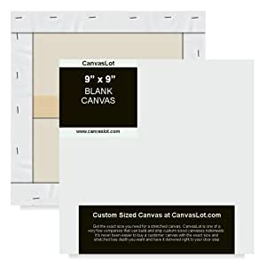 canvaslot 9 x 9 extra small stretched blank canvas. Black Bedroom Furniture Sets. Home Design Ideas