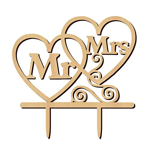 Mr And Mrs - Rustic Wedding Cake Per Mr And Mrs Style 38 - Comforter Sour Outfits Comic Bathroom Pillowcases Transfers Costume Unity Table Sign Decor Note Wine Necklace Ring Honeymoon Co ()