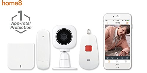 Home8 Interactive Medical Alert System (1-Cam), 1x HD Two-Way Talking Camera, 1x In-Home Panic Button, 1x Hub, Sends Smartphone Notification to Family Members or Caregivers when Button is Pressed