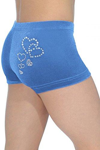 Con Ginnastica Liscio Pantaloncini Reale Da Hipster Valentine Blu Motif Velluto Cuore qwfTAwY