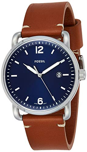 Fossil The Commuter 3-Hand Date Leather Watch