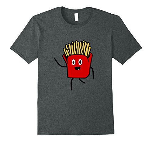 Mens Awesome Matching Fries Halloween Costume T-Shirt Idea XL Dark Heather (Twin Costumes For Teens)