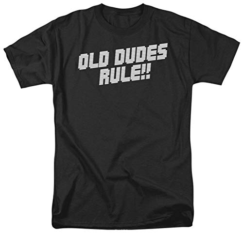 Old Dudes Rule!! Funny Saying Adult T-Shirt (Old Dudes Rule T Shirt)