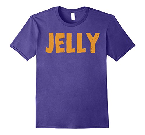 Mens Peanut Butter T-Shirt Jelly Couples Friends Halloween Shirt 2XL Purple