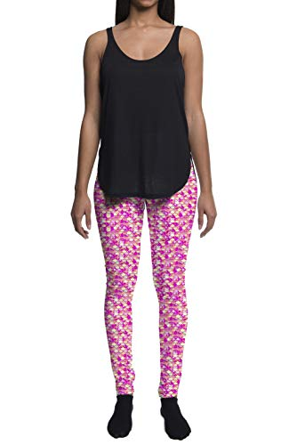 Ladies Pink Mermaid Leggings (Extra Large)]()