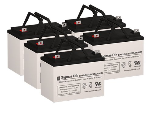 (X-Treme XM-3150 Replacement Batteries - 5X 12 Volt 35AH NB Terminal Scooter Batteries by)