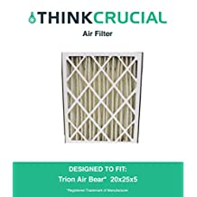 Trion Air Bear 20x25x5 Merv 8 Replacement Air Filter, Compare Part # 255649-102, Designed & Engineered by Crucial Air
